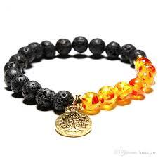 bracelet life images Chakra bracelet tree of life chakra black lava stone beads men jpg
