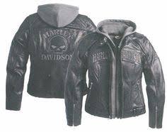 harley davidson clothing for women skull 3 in 1 leather