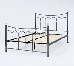 foxhunter nickel plated metal bed frame bedstead double king black