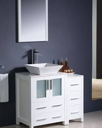bathroom vanity with side cabinet fresca torino 36 white modern bathroom vanity w side cabinet