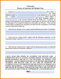 Durable Power Of Attorney For Health Care Michigan by 10 Power Of Attorney Form Nebraska Action Plan Template