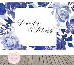 wedding backdrop font wedding backdrop navy blue wedding floral backdrop watercolor