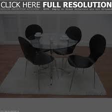 Glass Dining Table 4 Chairs Chair Hampton Oak 120cm Round Glass Dining Table With 4 Chairs