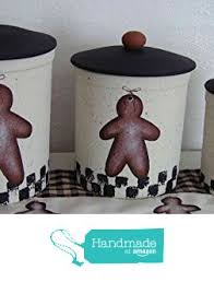 primitive gingerbread italian stoneware canister set from