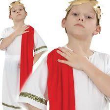 boys roman emperor white fancy dress costume age 7 9 years ebay