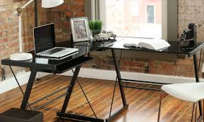 l shaped desk glass memorable design light brown wood desk as cherry wood l shaped