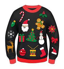 ugly christmas sweater clip art u2013 happy holidays