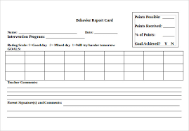 report card template pdf sle progress report card template 11 free documents in pdf word