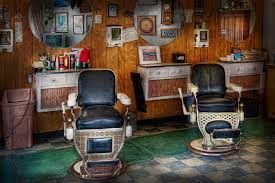Old Barber Chair Barber Frenchtown Nj Two Old Barber Chairs Photograph By Mike