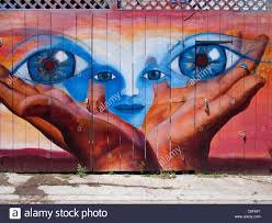 painted wall mural mission district stock photos painted wall painted wall mural mission district san francisco stock image