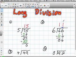 long division grade 4 6 19 12 mov youtube