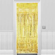 buy gold metallic door curtain 2 4m from our all party