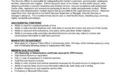 resume sample for security officer and security guard resume