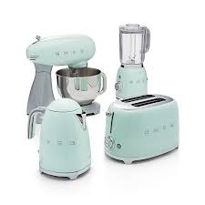 smeg pastel green retro electric kettle kettle crates and barrels