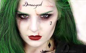 the joker female version squad jared leto makeup