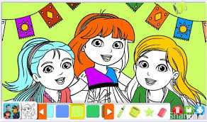 dora explorer color book games girls dora drawing games