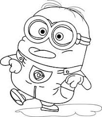 minion dave minion happy coloring dave minion