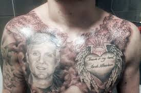 man with dead best friend u0027s face tattooed on his chest killed