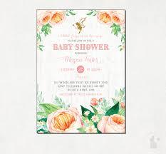 fairy baby shower invitation floral shower invite watercolor