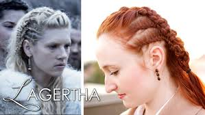 lagertha lothbrok hair braided vikings hair tutorial lagertha as earl youtube