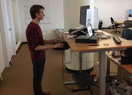 Standing Desk Setup Standing Desk Setup Hack A Standing Desk From Ikea