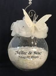 personalized wedding ornament just married ornament