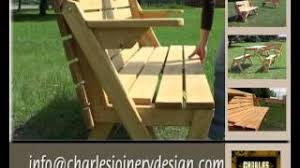 How To Build A Hexagonal Picnic Table Youtube by Folding Picnic Bench And Table Youtube