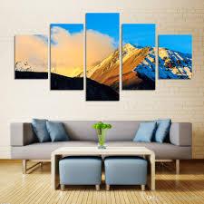 decoration de montagne vente en gros peinture murale à 5 pièces hd grande décoration de