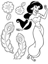 jasmine coloring pages coloring pages print