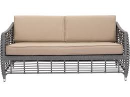 Zuo Outdoor Furniture by Zuo Outdoor Trek Beach Aluminum Wicker Sofa In Gray U0026 Beige 703827