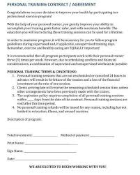 training agreement template training contract template contract