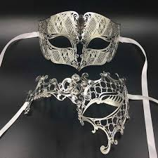 venetian masquerade mask luxury lover woman men s mask silver metal venetian
