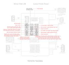 electrical toyota tacoma 2007 fuse diagram motor vehicle