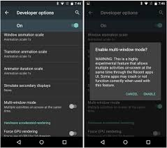 developer mode android how to enable multi window mode for android m developer preview on