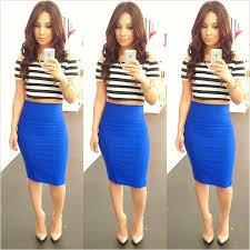 striped pencil skirt dress ala blue pencil skirt dress ala