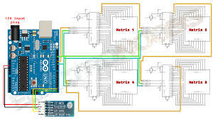 arduino bluetooth led matrix max7219