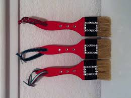 santa paint brush ornaments what i ve done from finds