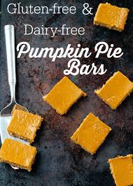gluten free and dairy free pumpkin pie bars happy healthy
