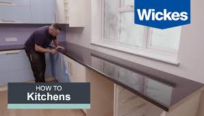 how to fit a kitchen worktop with wickes youtube