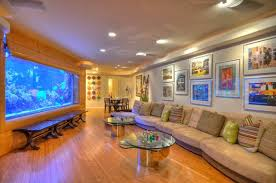 Contemporary Living Room Designs With Fish Tanks Home Design - Stylish living room furniture orange county property