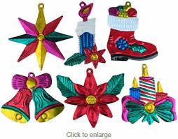 painted tin mexican ornaments per doz mexican
