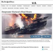 the new york times publishes new york times prints detailed report of last hours on deepwater