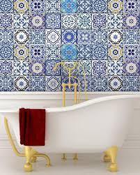 24 tile decals mexican tile stickers bathroom decor ideas mixed