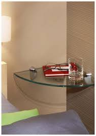 Glass Floating Shelves by Trendy Floating Corner Shelf Design With Clear Glass Floating