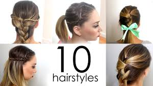 10 quick u0026 easy everyday hairstyles in 5 minutes youtube