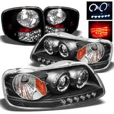 2002 ford f150 tail lights ford f150 flareside 1997 2003 black projector headlights and led