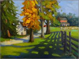 Delaware landscapes images Long shadows coverdale farm 12x16 oil coverdale farms jpg