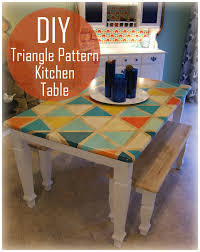 how to diy home decor nine red how to diy triangle pattern kitchen tabletop