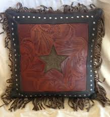 diy western home decor western lodge cowboy home decor western star leather tooled throw
