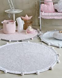 lorena canals bubbly round machine washable rug light grey 120